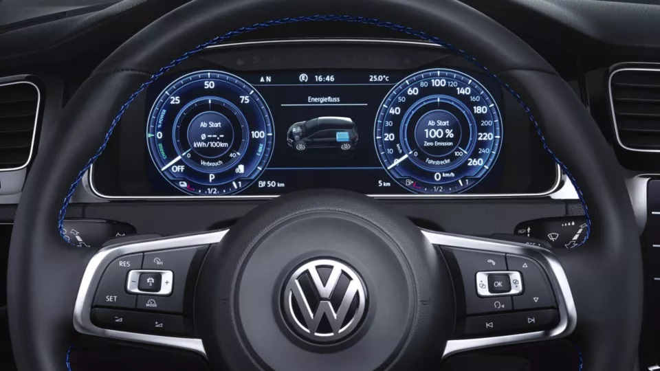 interior del volkswagen e-golf