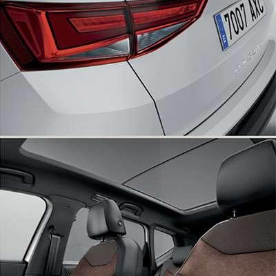detalles del exteriores e interiores del seat ateca