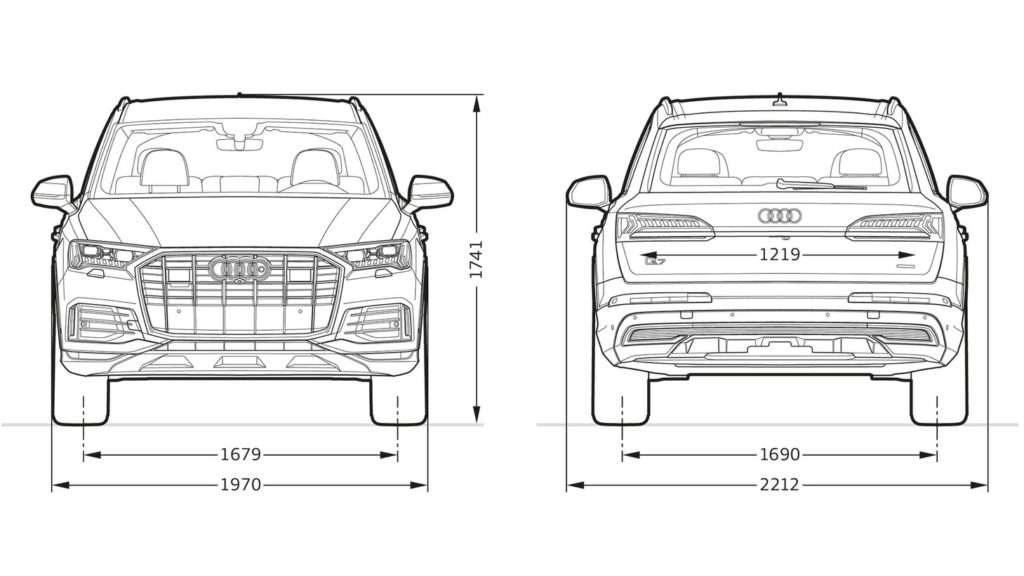 Medidas frontales y traseras del nuevo Audi Q7 2020